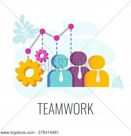Teamwork Icon. Human Resources. Human Capital Concept. The Team Of Employees Is Valued More Than Mon