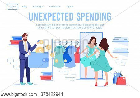 Married Couple Shopping At Female Online Clothes Fashion Boutique. Husband Paying Using E-wallet Mob