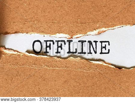 Offline. Your Journey Starts Here Motivational Inspirational Business Life Phrase Note