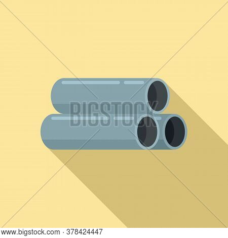 Steel Contruction Pipes Icon. Flat Illustration Of Steel Contruction Pipes Vector Icon For Web Desig