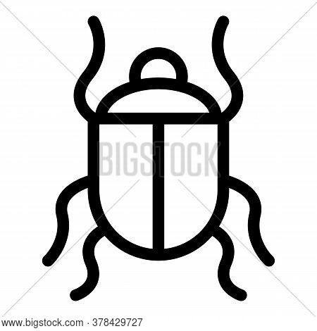 Wild Scarab Beetle Icon. Outline Wild Scarab Beetle Vector Icon For Web Design Isolated On White Bac
