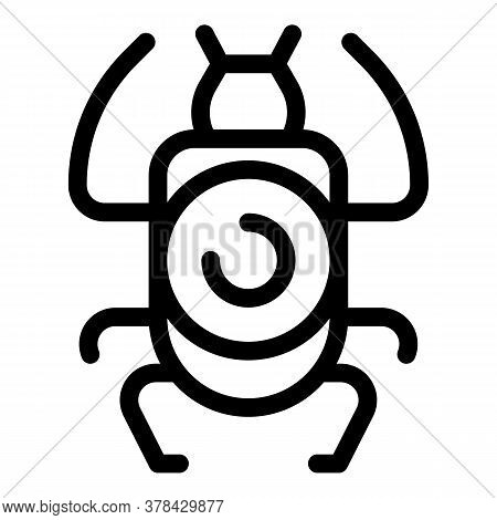 Culture Scarab Beetle Icon. Outline Culture Scarab Beetle Vector Icon For Web Design Isolated On Whi
