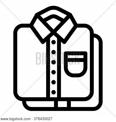 Shirts Stack Icon. Outline Shirts Stack Vector Icon For Web Design Isolated On White Background
