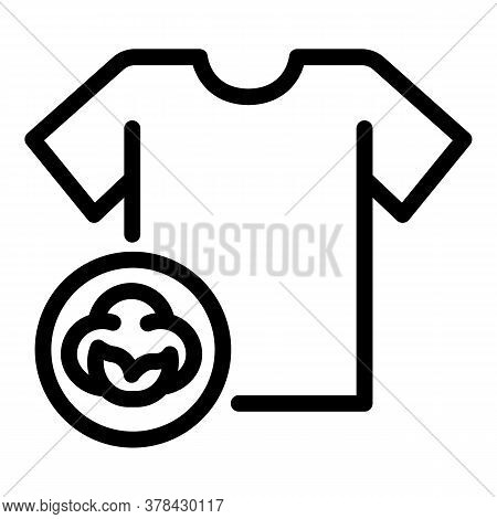 Cotton Tshirt Icon. Outline Cotton Tshirt Vector Icon For Web Design Isolated On White Background
