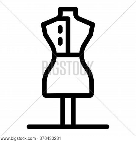 Dress Production Icon. Outline Dress Production Vector Icon For Web Design Isolated On White Backgro