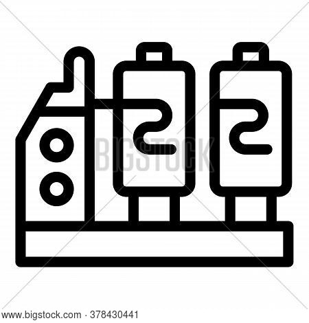Textile Production Equipment Icon. Outline Textile Production Equipment Vector Icon For Web Design I