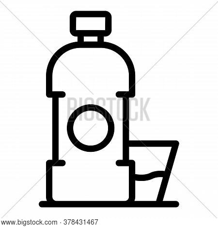 Digestion Water Bottle Icon. Outline Digestion Water Bottle Vector Icon For Web Design Isolated On W