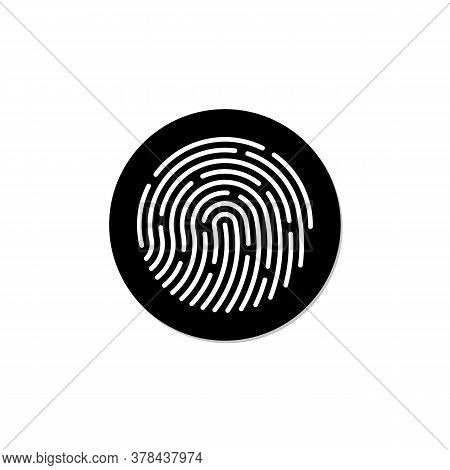 Fingerprint Scan Vector Icon, Flat Icon Design Finggerprint