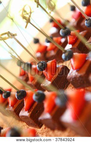 Chocolate and Berries dessert treats