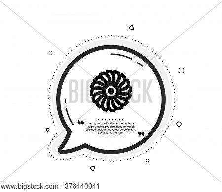 Fan Engine Icon. Quote Speech Bubble. Jet Turbine Sign. Ventilator Symbol. Quotation Marks. Classic
