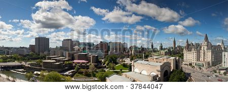 Panorama View Of Ottawa Skyline, Canada