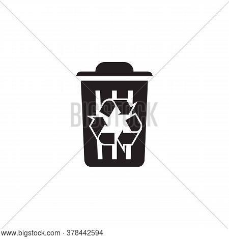 Icon Recycle Black Vector Eps, Flat Icon Design Recycle