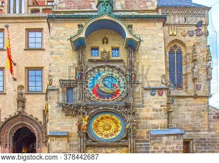 The Prague Astronomical Clock, Or Prague Orloj In Prague