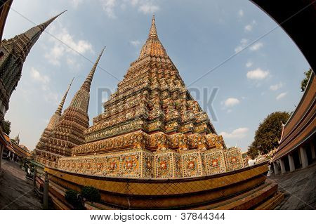 Pagodas In The Day.