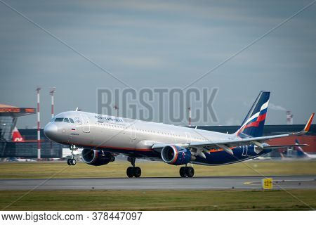 October 29, 2019, Moscow, Russia. Plane Airbus A330-300 Aeroflot - Russian Airlines At Sheremetyevo