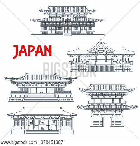 Japan Buildings, Japanese Temples, Houses And Pagoda Towers, Buddhism Religious Architecture Landmar