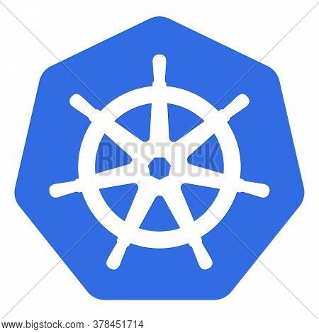 Kubernetes Emblem White Helm On Blue Background