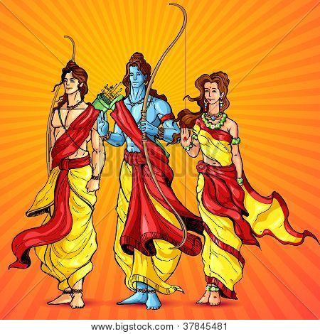 Rama, Laxmana and Sita