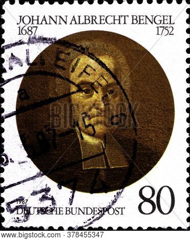 02 09 2020 Divnoe Stavropol Territory Russia The Postage Stamp Germany 1987 The 300th Anniversary Of