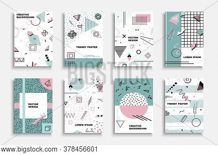 Collection Of Vector Contemporary Covers, Templates, Posters, Placards, Brochures, Banners, Flyers A