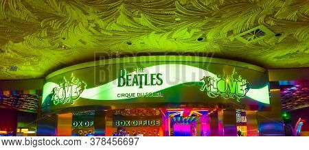 Las Vegas, United States Of America - May 06, 2016: The People Going Near Entrance To The Beatles Ci