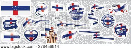 Vector Set Of The National Flag Of Netherlands Antilles