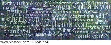 We Really Can't Thank You Enough Banner -  Grunge Blue Green Rustic Brick Wall With Many Different S