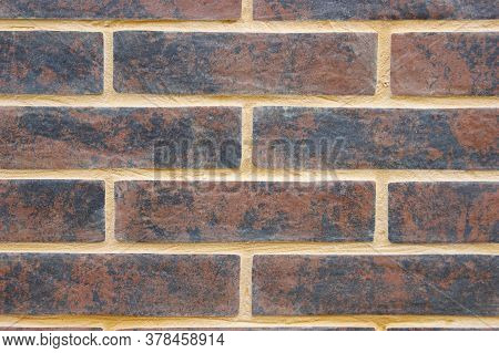 Reliable Brick Wall. Strong Brickwork. Protective Structure. Brickwall Texture.