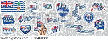 Vector Set Of The National Flag Of British Indian Ocean Territory