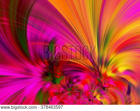 Purple Abstract Fractal Background 3D Rendering Illustration