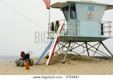 Life Guard Shack On Beach