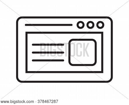 Webpage Icon Vector. Navigation Online Page Icon To Use In Web And Mobile App. Homepage Symbol