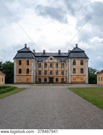 Christinehof, Sweden - June 28, 2020: The Castle Christinehof In Southern Sweden With No People Arou
