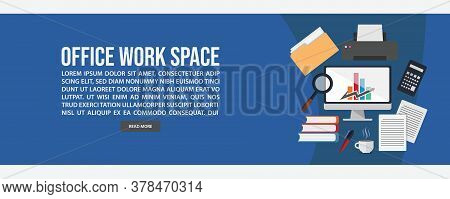 Work Space Web Banner Template Design