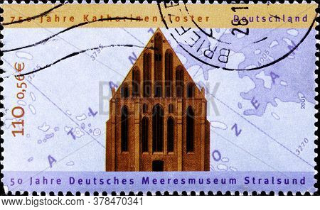 02 09 2020 Divnoe Stavropol Territory Russia The Postage Stamp Germany 2000 50 Years Of The German M