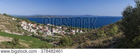 Panoramic View From The Mountains At Ivan Dolac On The Island Of Hvar