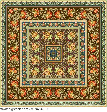 Vector Decorative Ethnic Illustration. Vintage Square Doily