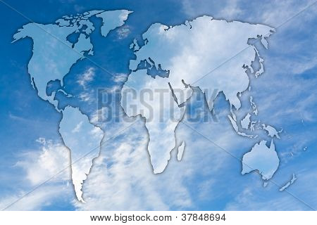 map of sky and clouds