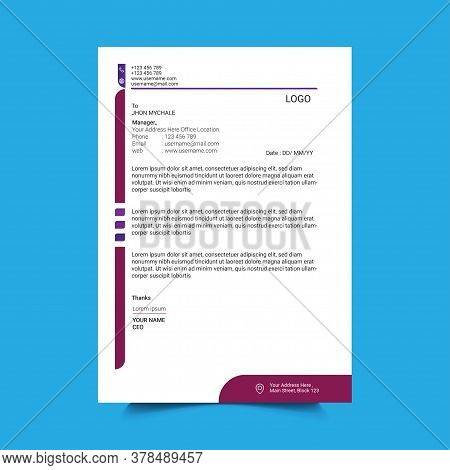Corporate Company Letterhead Template Design.modern News Letter .company Business Document.