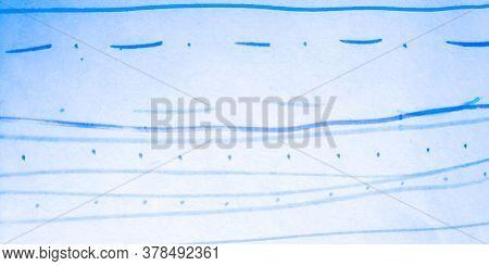 Distress Line Pattern. Stroke Indigo Grungy Sketch. Background Distress Line Pattern. Ripple Childis