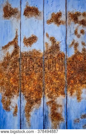 Rusty Texture Of A Historic Heritage Building At Nelson, New Zealand.
