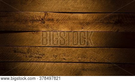 Wood Background Or Texture, Made Of Horizontal Boards Or Slats