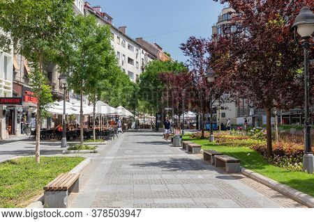 Belgrade, Serbia - June 30, 2019: Pedestrian Aeria Obilicev Venac At Sunny Summer Day In Belgrade, S