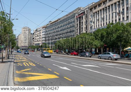 Belgrade, Serbia - June 30, 2019: Terazije Street City Center At Sunny Summer Day In Belgrade, Serbi