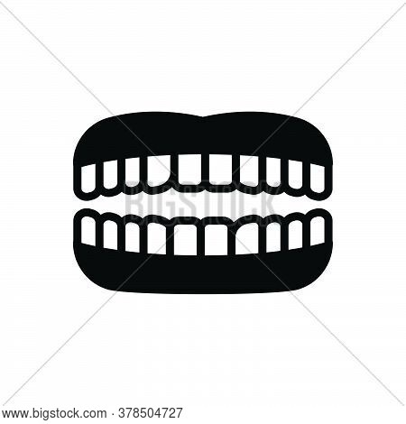 Black Solid Icon For Teeth Tooth Chew Periodontics Dental-care Root Toothache Smile Orthodontic Mast
