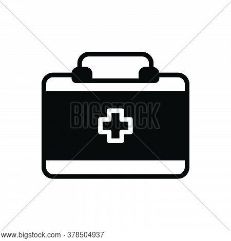 Black Solid Icon For Doctor-bag Doctor Bag Pharmacy Safety Kit Medicine Emergency Briefacse First-ai