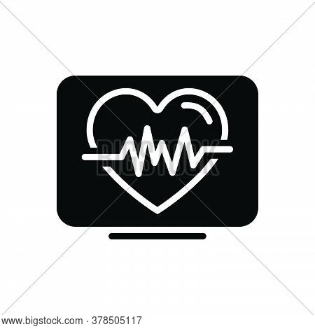 Black Solid Icon For Heartbeat Life Calligraphy Cardio Heartbeat Cardiology Ehealth Healthcare Heart