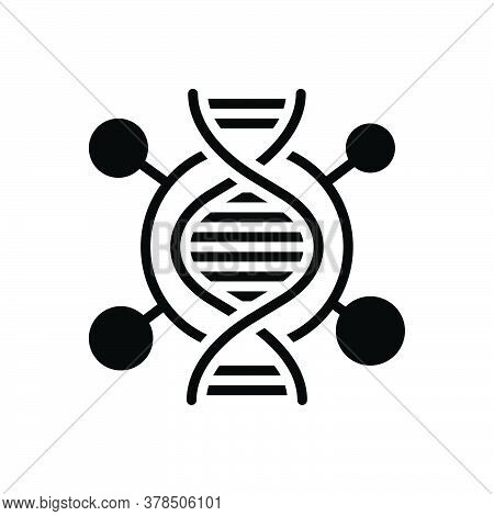Black Solid Icon For Dna Genetic Dna-test Dna-spiral Cell Helix Identity Medical Deoxyribonucleic Ac