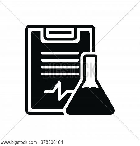 Black Solid Icon For Experiment-results Feedback Test Testimonial Survery Solution Laboratory Test-t