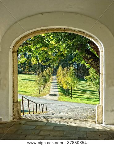 Old Gate With Nice Wiev